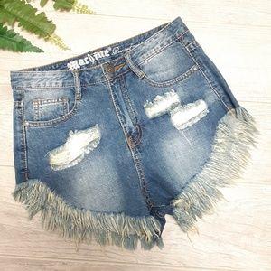 Machine high rise distressed denim shorts Size 28